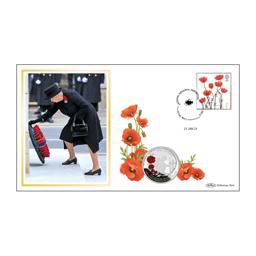 2021 Remembrance Day Silver Proof £5 Coin Cover
